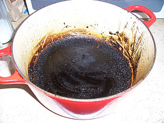 Burned food in a pot? Here's how to fix it.