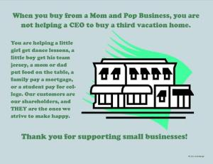 thank you for supporting small business