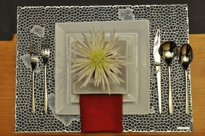An attractive place setting might help you enjoy your meal.
