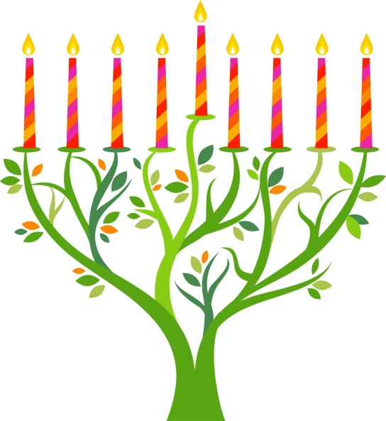 menorah tree with candles